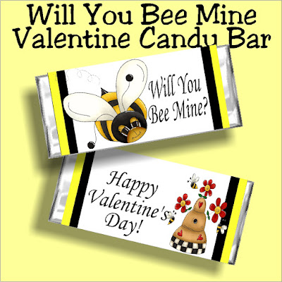 Will you bee mine? This printable candy bar wrapper is the perfect way to ask someone special to be your Valentine with a candy bar and card in one. Print yours out today and bee someone's sweetie tonight.