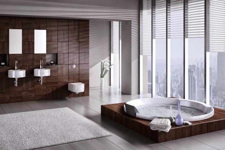 decoración baño de lujo