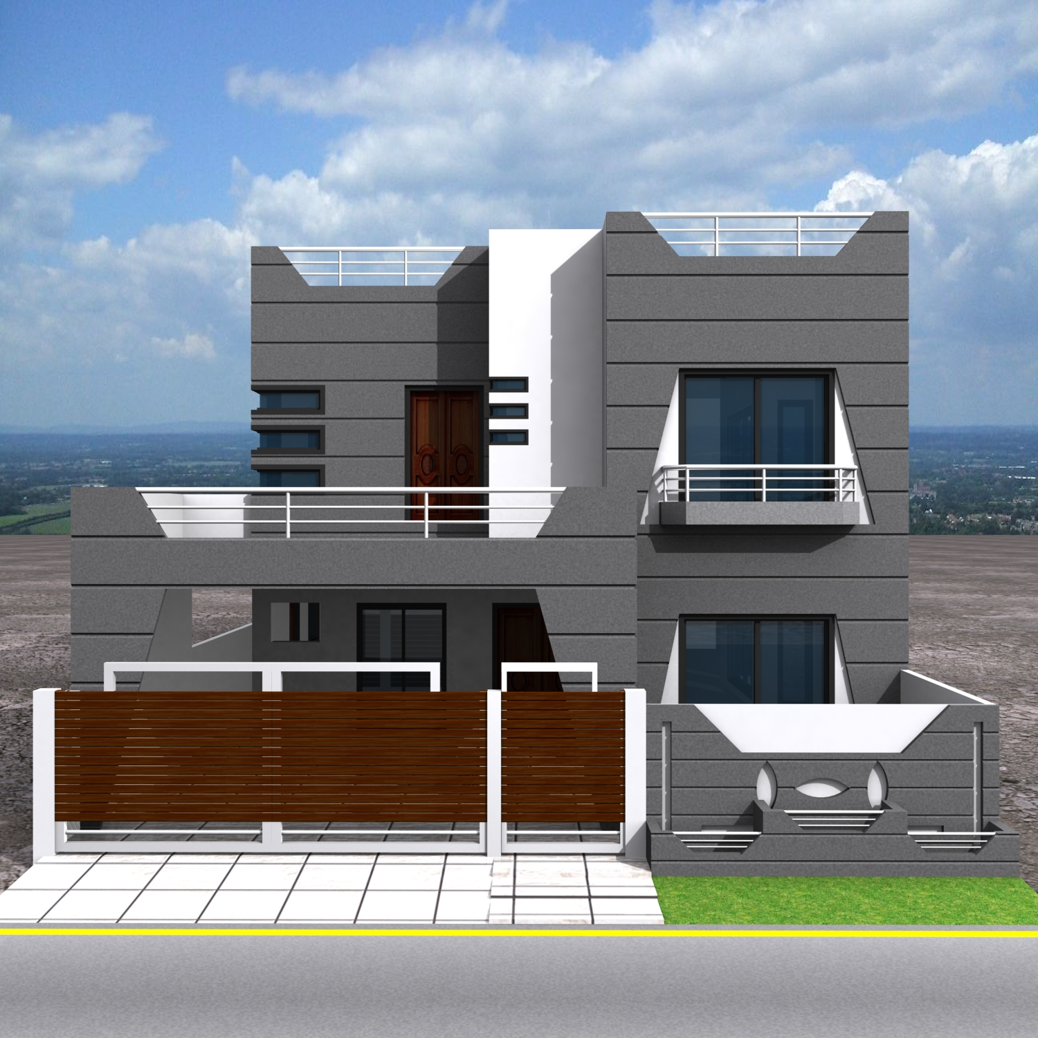 3d Front Elevation Design 3d Building Elevation: 3D Front Elevation.com: Traditional + Modern House Plans