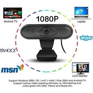 Webcam X6 1080P Built in Mic Web Cam Camera Live Video Full HD 1080p