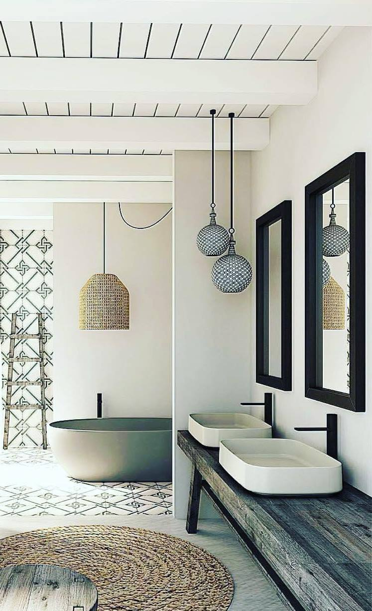 boho bathroom design idea