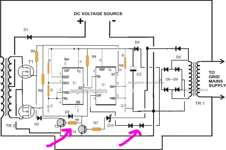 grid tie inverter circuit