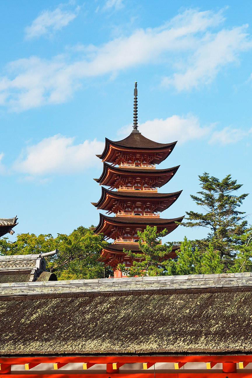 Five storey pagoda, Miyajima