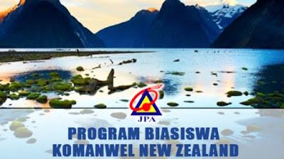 Permohonan Biasiswa Komanwel New Zealand 2020 Online