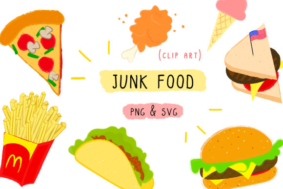 Junk Food, Fast Clipart Graphic