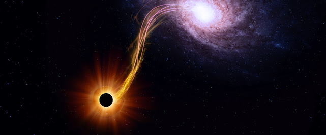 Dark matter and energy fell into a black hole.