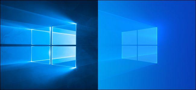 خلفيات سطح المكتب الافتراضية القديمة والجديدة لنظام التشغيل Windows 10