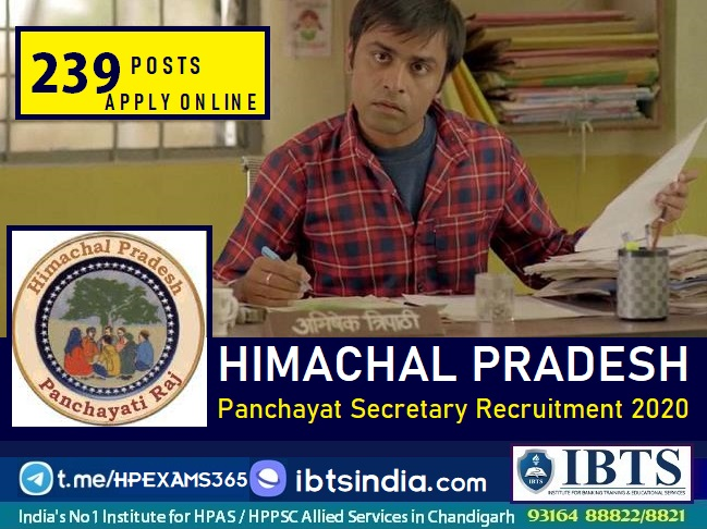HP Panchayat Secretary Recruitment notification
