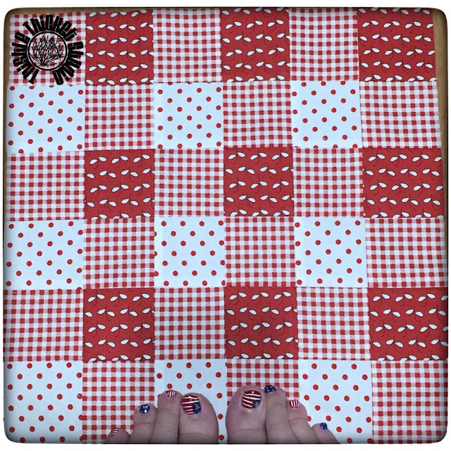 Farm Girl Vintage Gingham Block by Thistle Thicket Studio