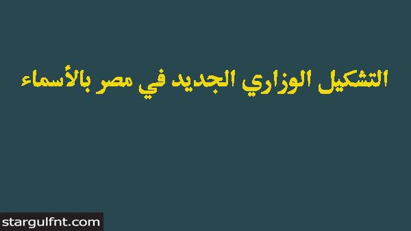 التشكيل الوزاري الجديد في مصر بالأسماء