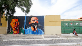 Cape Verde criminals painted at the wall