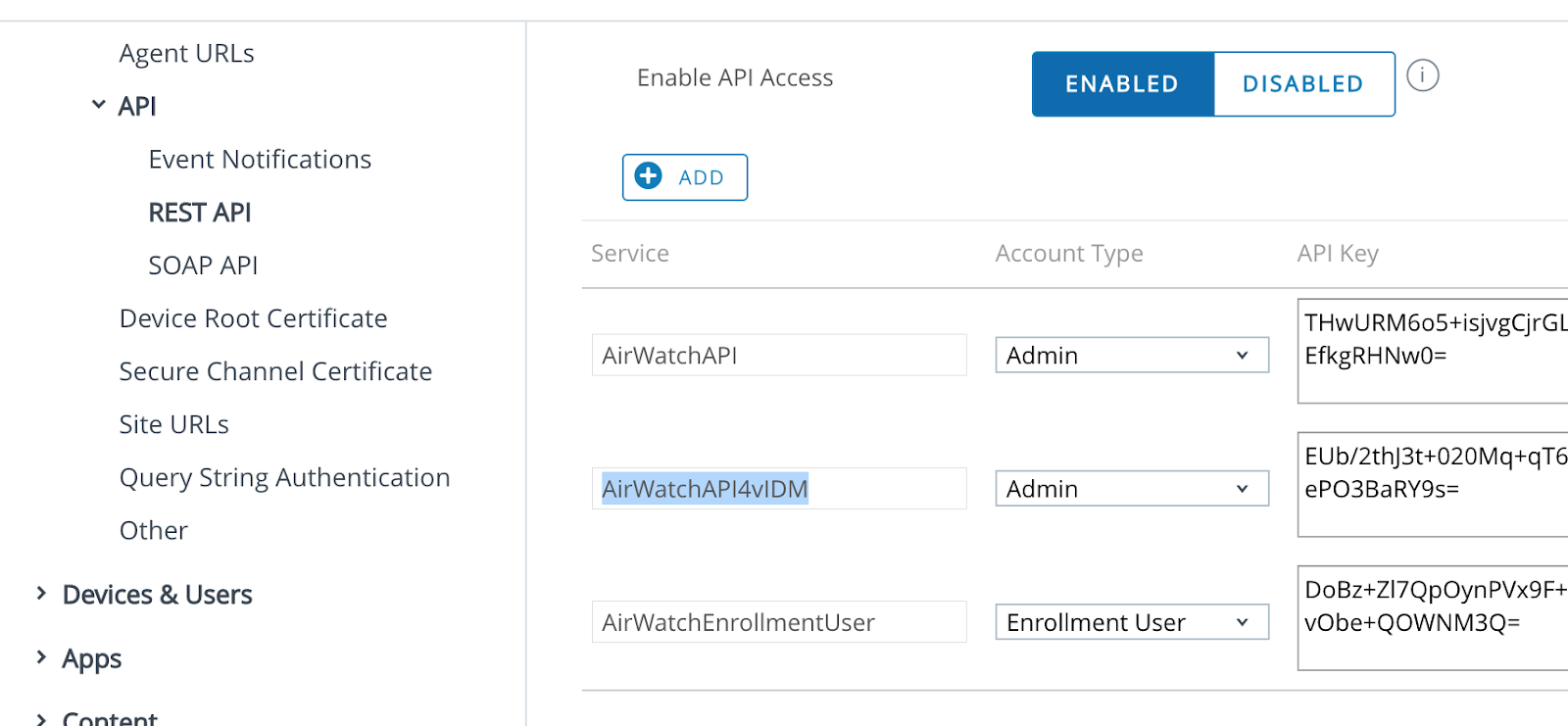 airwatch gooder even administrator root certificate getting