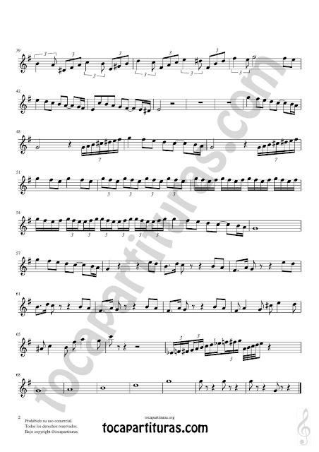2 Flauta dulce y flauta de pico Partitura Fácil de Pas de Deux Sheet Music Recorder Music Scores en Sol Mayor (G) Tonalidad Original PDF/MIDI de Flauta dulce