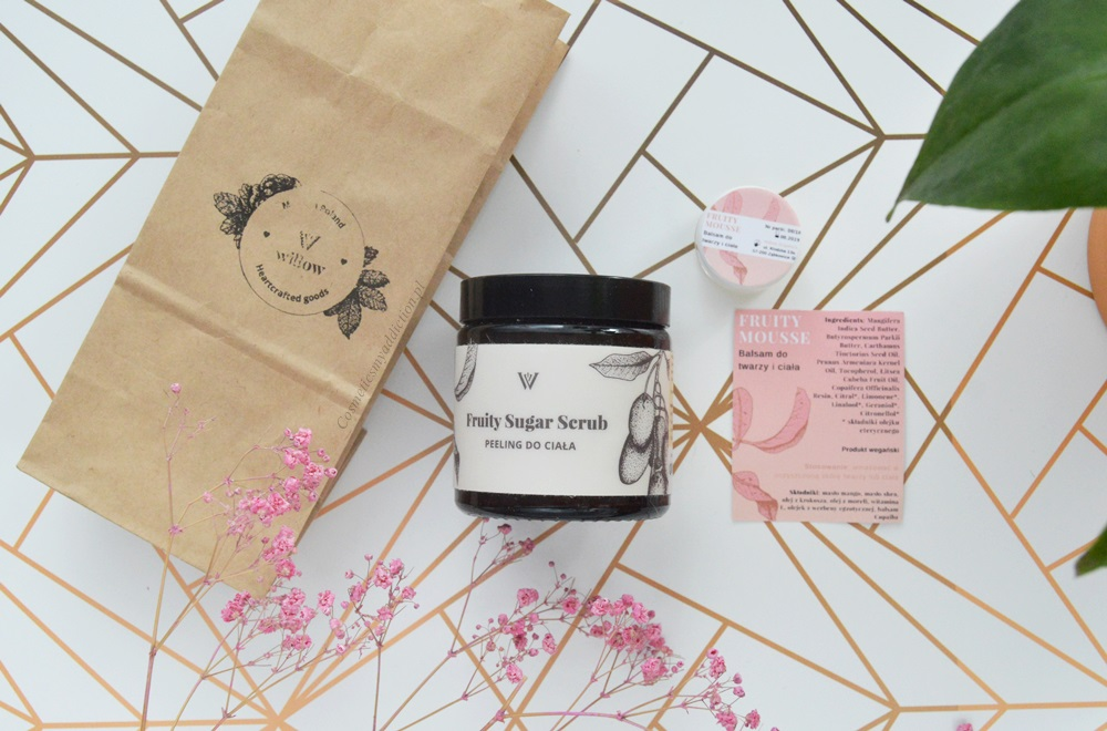 willow organics scrub peeling