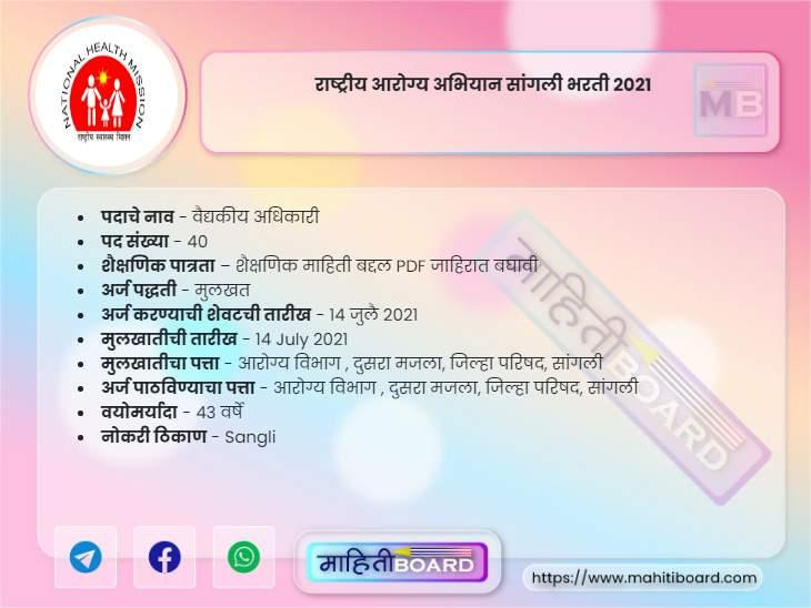 NHM Sangli Recruitment 2021