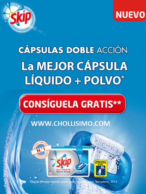 SKIP Ultimate, promoción SKIP Ultimate. SKIP® CAPSULAS DOBLE ACCIÓN