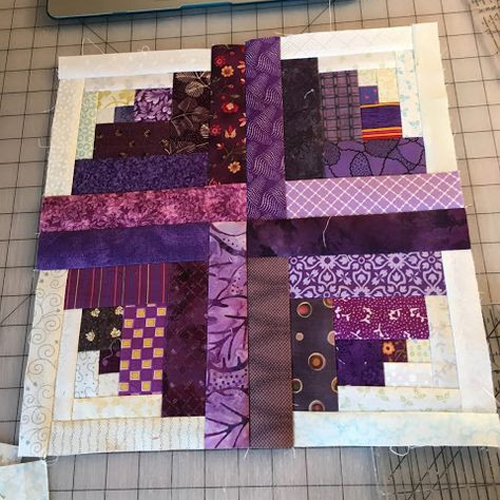 Curved Log Cabin Quilt Tutorial
