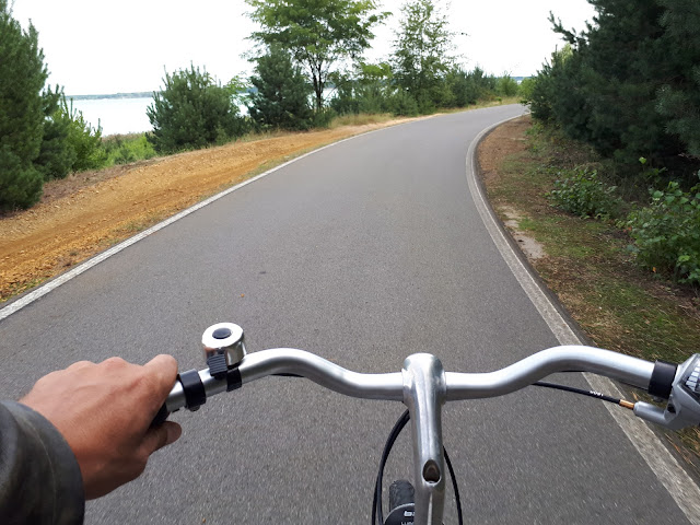 a cycling trail around Lausitzer Seenland in Brabant