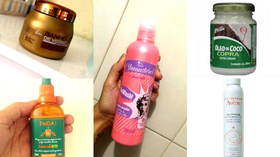 produtos que protegem e cuidam do cabelo na praia ou piscina