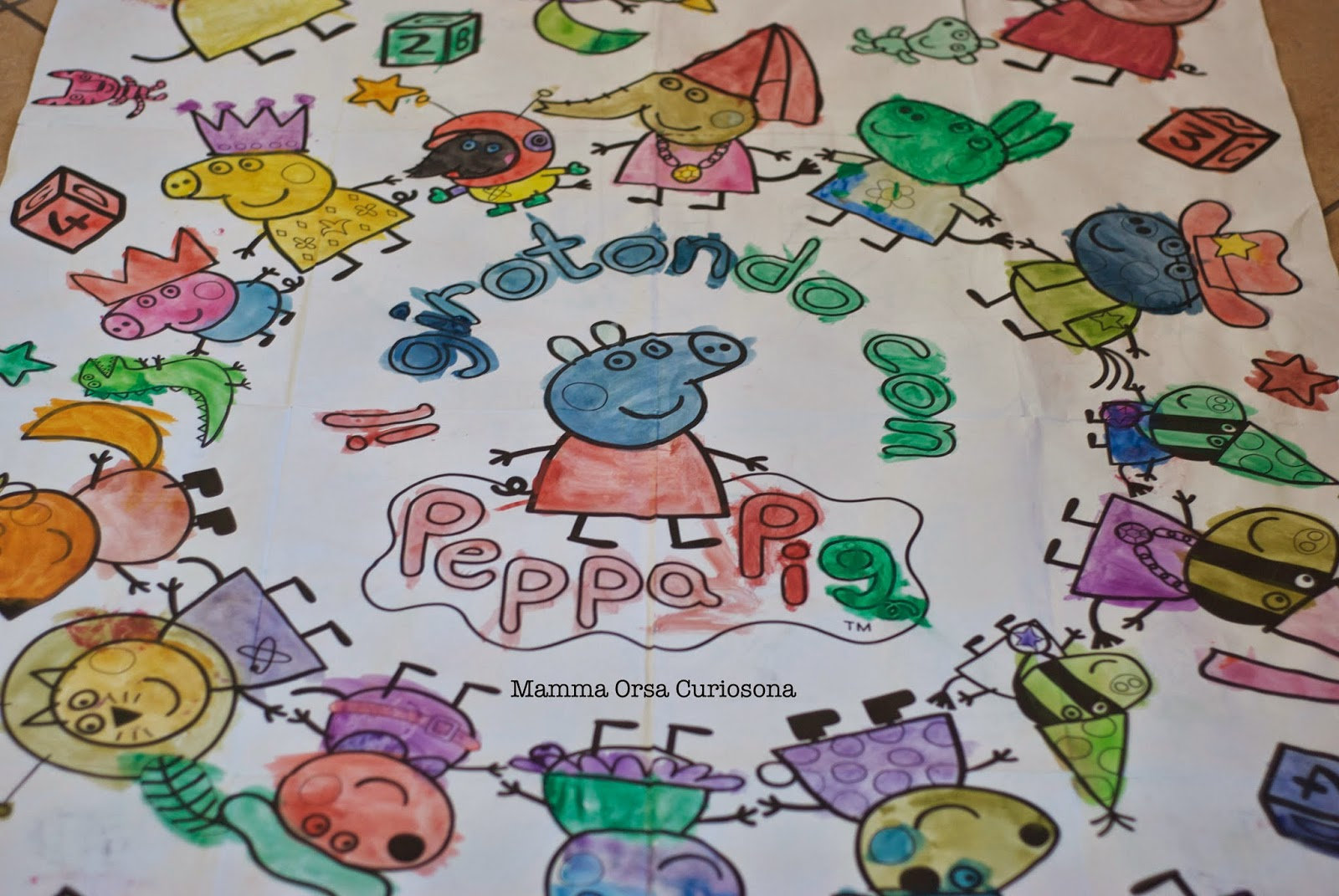 colorare con peppa pig