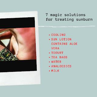 7 magic solutions for treating sunburn ...including milk and tea