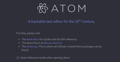 تحميل وتثبيت محرر الاكواد atom editor مع اهم الاضافات