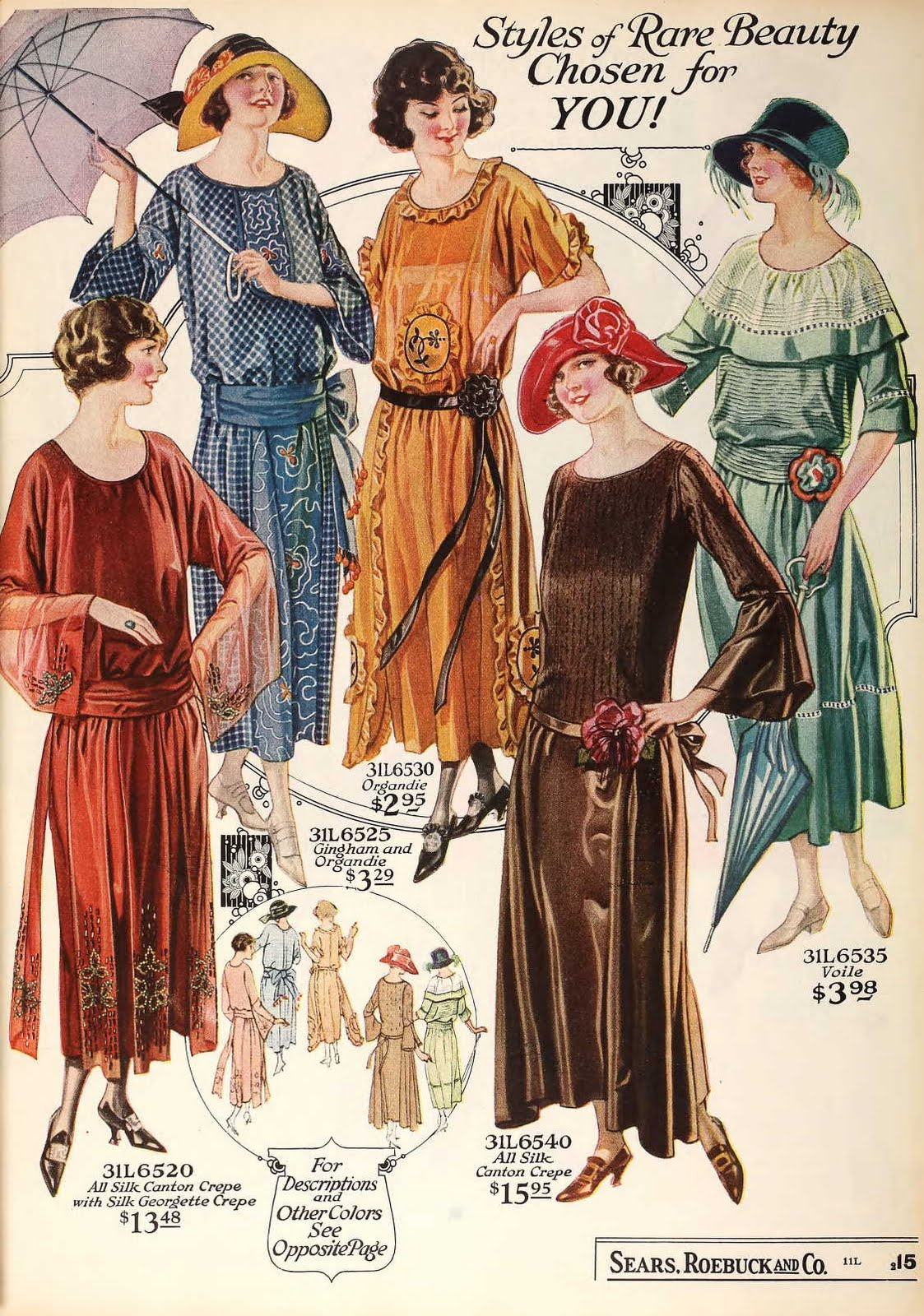 Snapped Garters: 1923 Fashions IN COLOUR