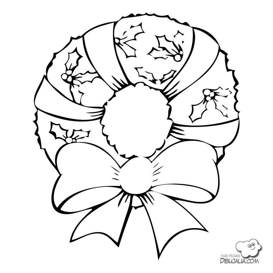 Dibujos Para Colorear De Coronas De Navidad