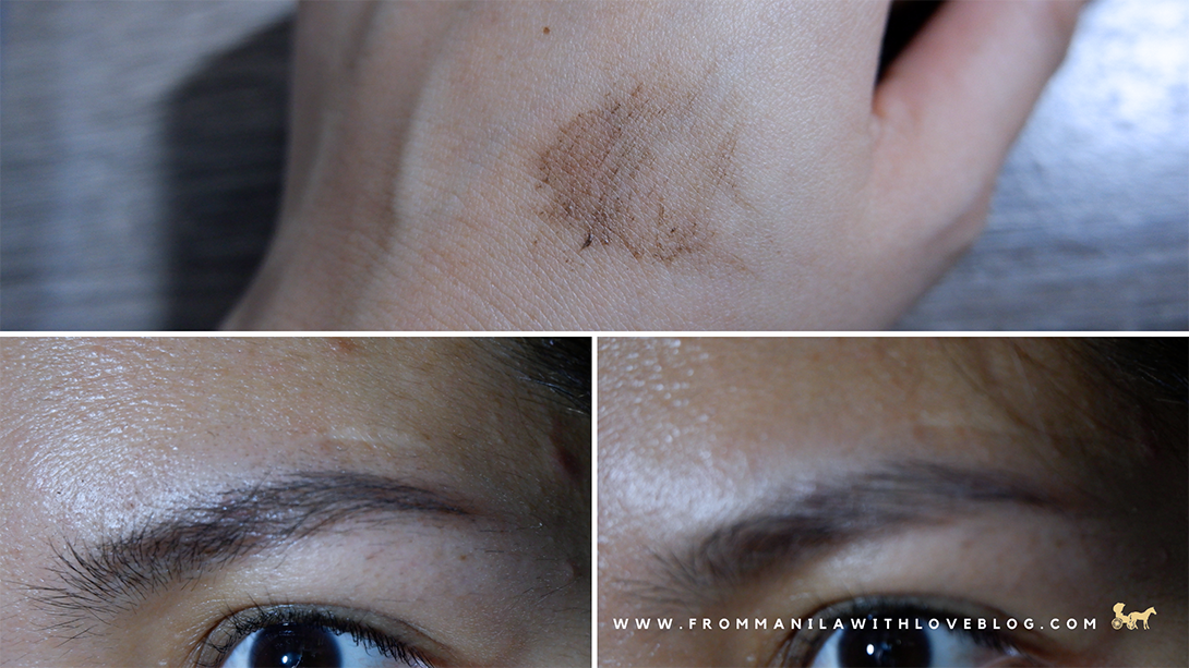 vice cosmetics brow gel in natural brown swatch
