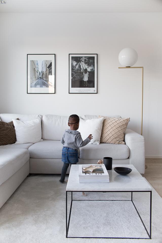 Villa H, sisustus, olohuone, taaperon elämää, kodin sisutus ja lapset