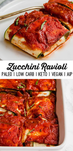 zucchini ravioli (paleo, keto, vegan)