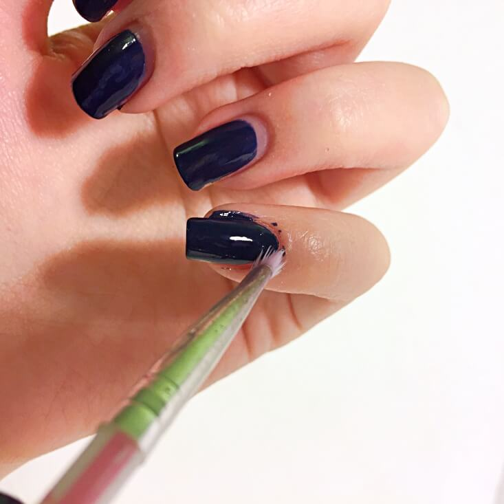 Removing nail polish from skin with acetone
