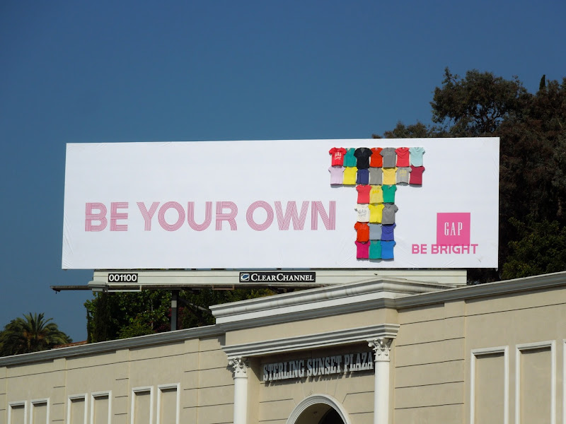 Be Your Own T Gap special installation billboard