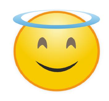Emoticon Angel Senyum