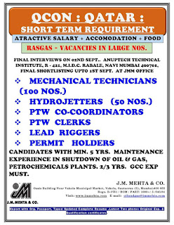 Qcon Short Term Requirement for Rasgas