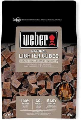 Weber natural lighter cubes for BBQ
