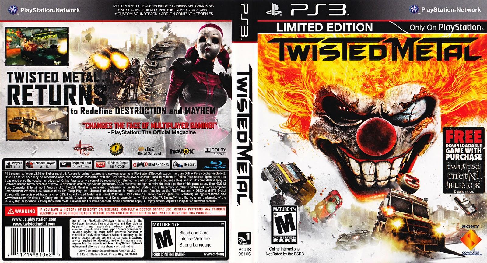 Lets play twisted metal black on pcsx2 emulator (1080p) part 2.