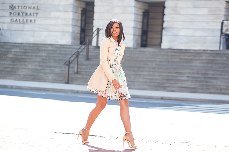 spring break, floral dress, asos, schutz sandals, www.jadore-fashion.com
