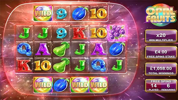 Main Gratis Slot Indonesia - Opal Fruits (Big Time Gaming)
