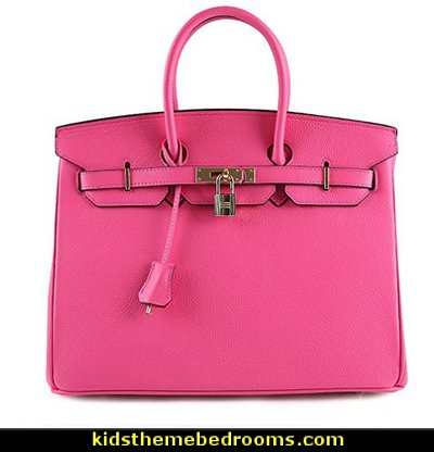 Women's Padlock Handbags with Golden Hardware