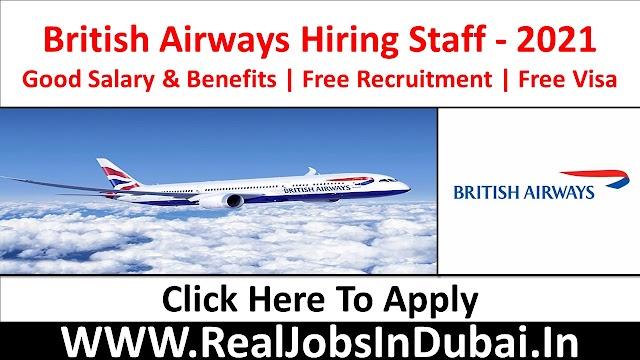 British Airways Hiring Staff In UK - 2021