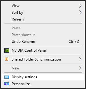 طريقة عرض معلومات عن الشاشة المتصلة بالحاسوب فى ويندوز 10