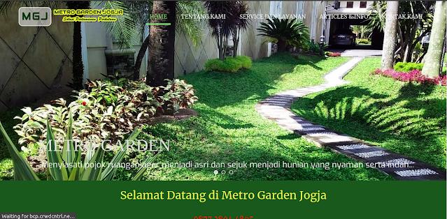 Tampak website Metro Garden Jogja, foto: screenshots