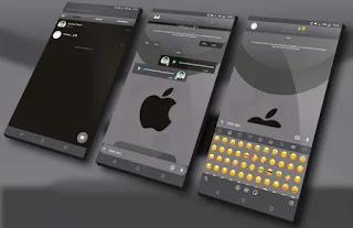 Black IOS Apple Theme For YOWhatsApp & Fouad WhatsApp By Nieliton