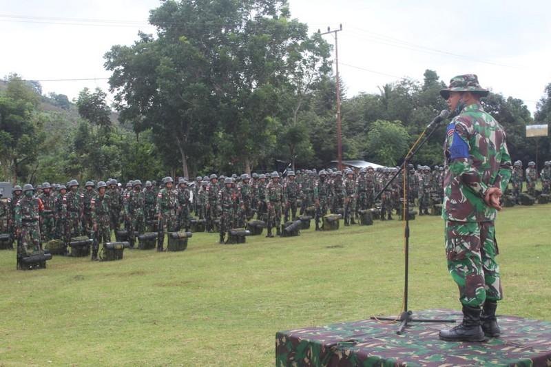 Latihan Pratugas Pamtas RI-Malaysia Yonarhanud 16 Divif 3 Kostrad di Gowa