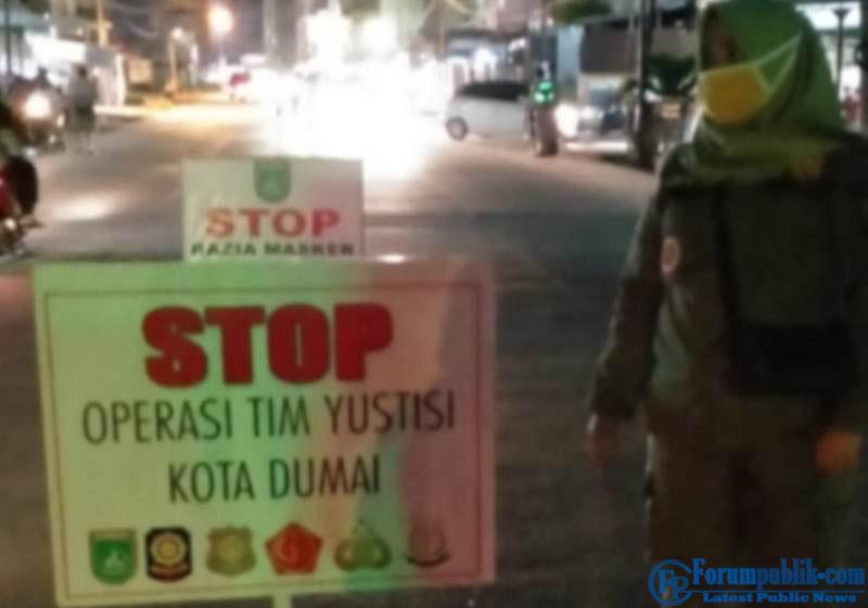 Razia Yustisi, Gabungan Personil Jaring 56 Warga Tak Pakai Masker di Dumai