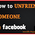 How to unfriend a Facebook Friend
