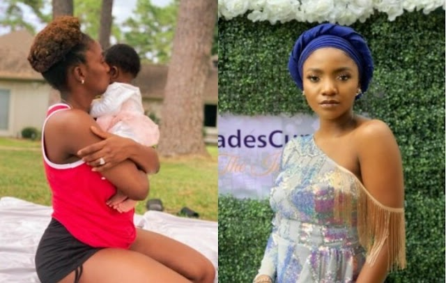Simi reveals why she's hiding her baby's face