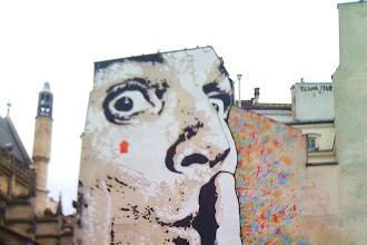 Sunday Street Art : Jef Aerosol - place Igor Stravinsky - Beaubourg - Paris 4