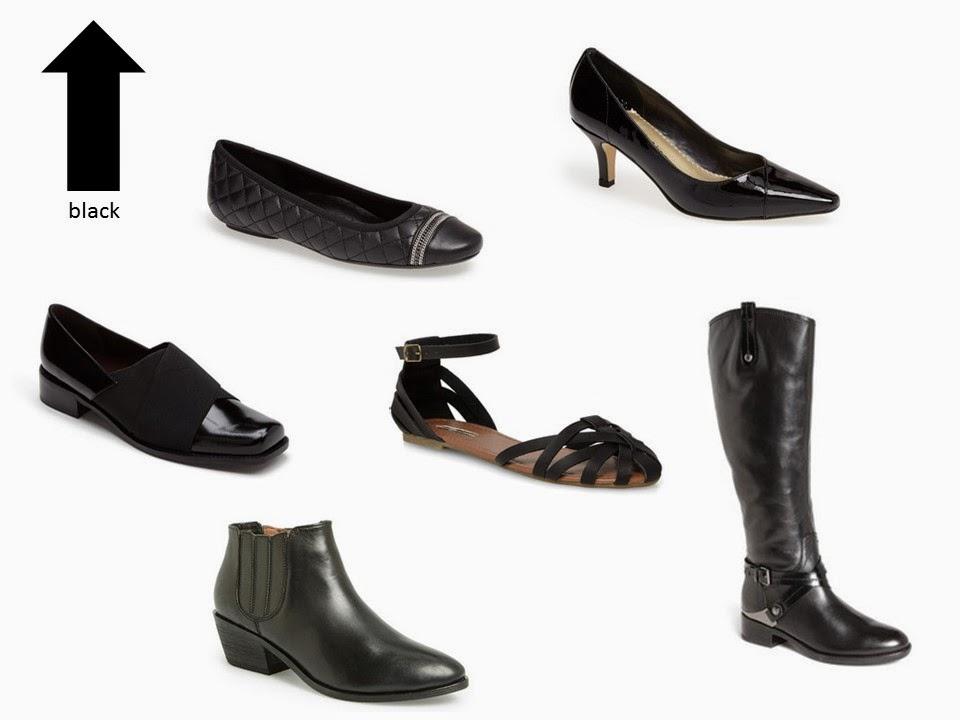 six classic black shoe styles